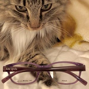 Kate Spade Leopard/Lavender Eye Glass Frames - New